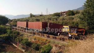 Εκτροχιασμός τρένου στο Λιανοκλάδι – Κλειστή η σιδηροδρομική γραμμή