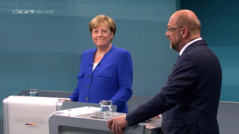 Γερμανία – Debate: Έχασε κάθε ελπίδα ο Σούλτς – Πιο συμπαθής και πειστική η Μέρκελ [pics, vids]