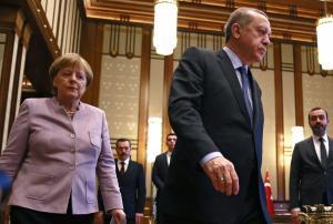 Για την… «σχέση» τους μίλησαν Μέρκελ και Ερντογάν στο τηλέφωνο