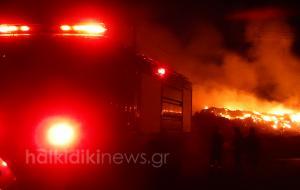 Χαλκιδική: Μάχη με τις φλόγες στην Κασσάνδρα