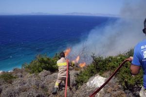 Ζάκυνθος: Φωτιά τώρα πάνω από το υπαίθριο θέατρο