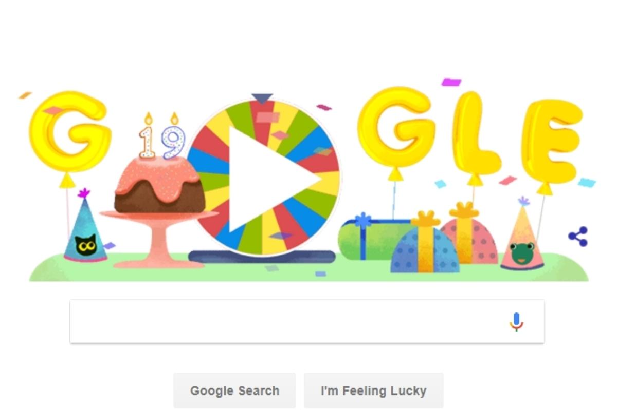 Τροχός έκπληξη για τα γενέθλια της Google