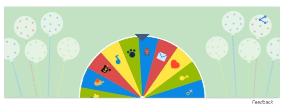 - ΈναςΤροχός έκπληξη για τα γενέθλια της Google
