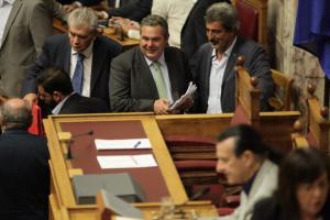 Βουλή: Απορρίφθηκε η πρόταση της ΝΔ για σύσταση εξεταστικής για τον Πάνο Καμμένο