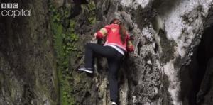 Λούο, η «γυναίκα-αράχνη» που σκαρφαλώνει σε απότομους βράχους για να μαζέψει βότανα