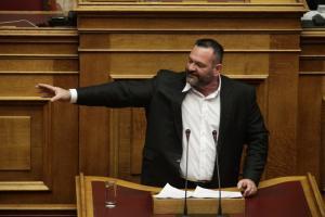 Χουντικό σύνθημα στη Βουλή από τον Λαγό! Χριστοδουλοπούλου: Ανατριχιάσαμε! [vid]