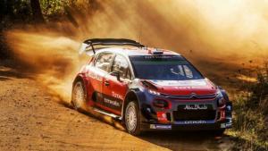 O Sebastien Loeb δοκιμάζει το νέο Citroen C3 WRC στο χώμα