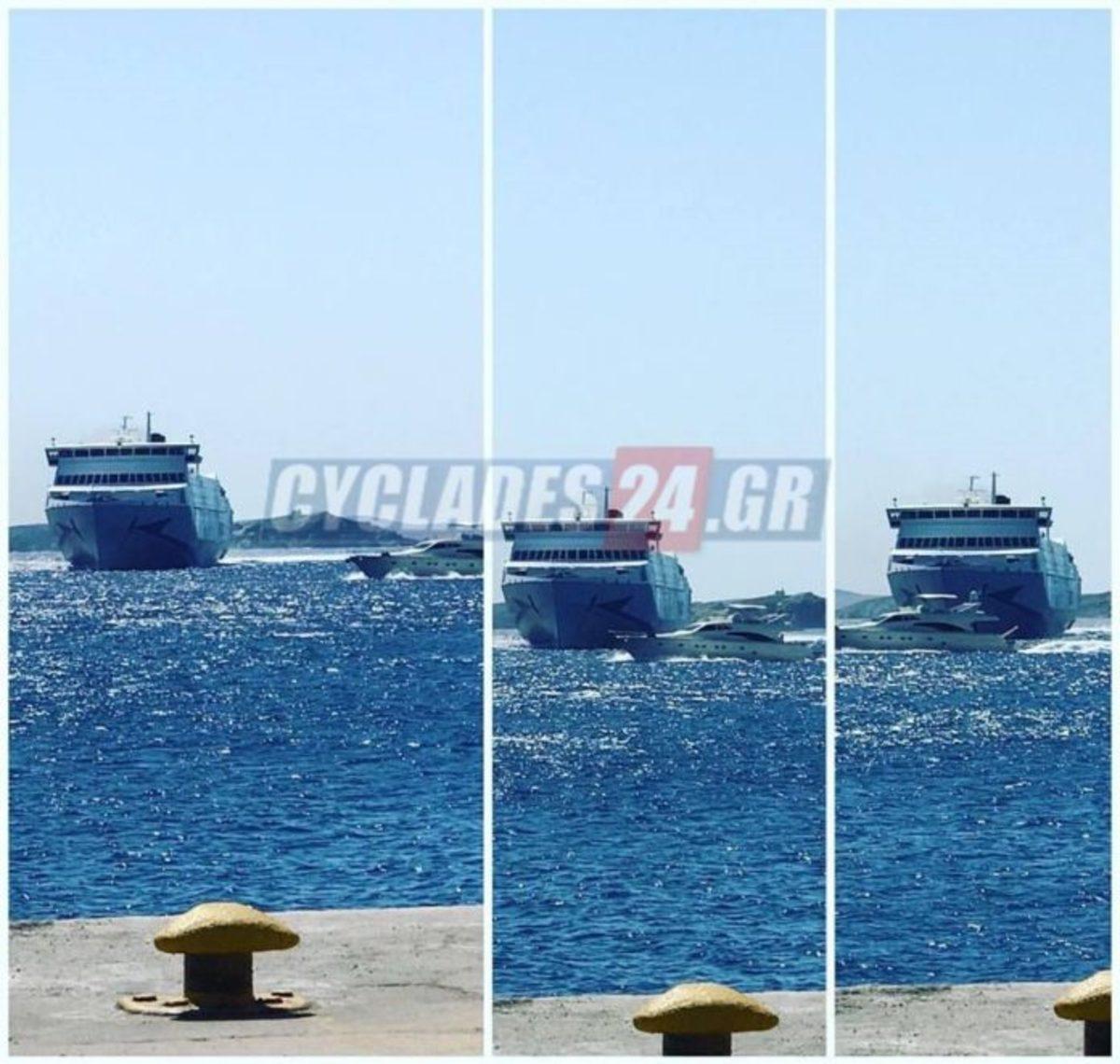 Μύκονος: Παραλίγο τραγωδία! Γιοτ πέρασε ξυστά από το Tera Jet [pic]   Newsit.gr