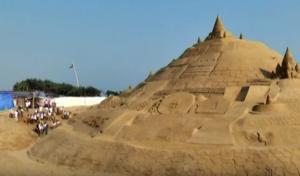Το ψηλότερο έργο τέχνης με άμμο