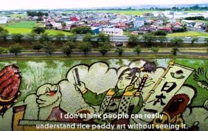 Το χωριό που δημιουργεί καλλιτεχνικές δημιουργίες με ρύζι