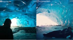 Μέσα στην σπηλιά από πάγο στην Αλάσκα