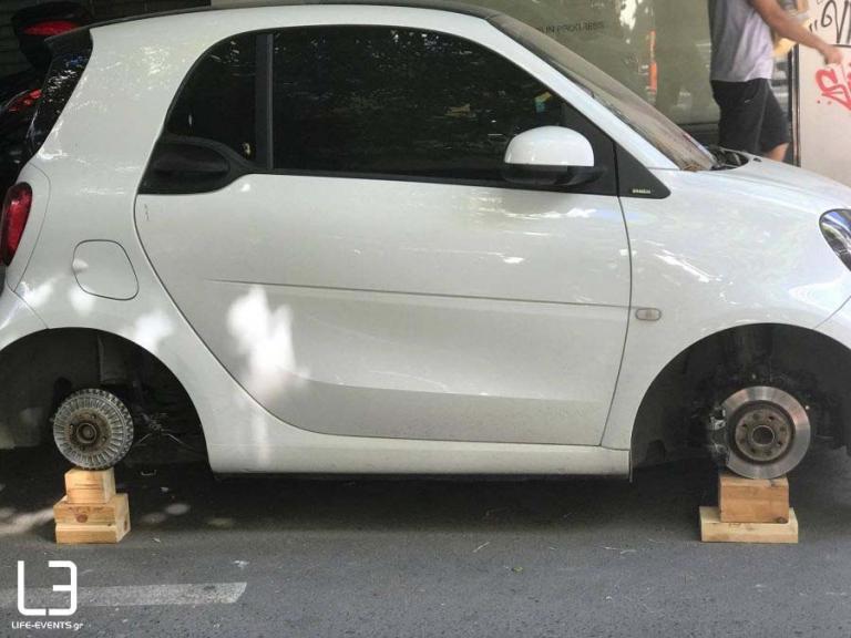Τρελάθηκε: Δείτε πως βρήκε το αμάξι του στο κέντρο της Θεσσαλονίκης [vid]