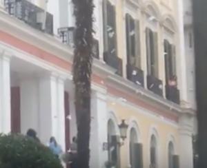 Θεσσαλονίκη: Το βίντεο της εισβολής του Ρουβίκωνα στο υπουργείο Μακεδονίας – Θράκης [vid]