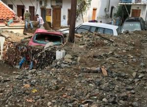 Σαμοθράκη: Οι λάσπες έθαψαν το νησί – Αποκαλυπτικές εικόνες καταστροφής – Η εντολή Τσίπρα και οι πρώτες κινήσεις [pics, vids]