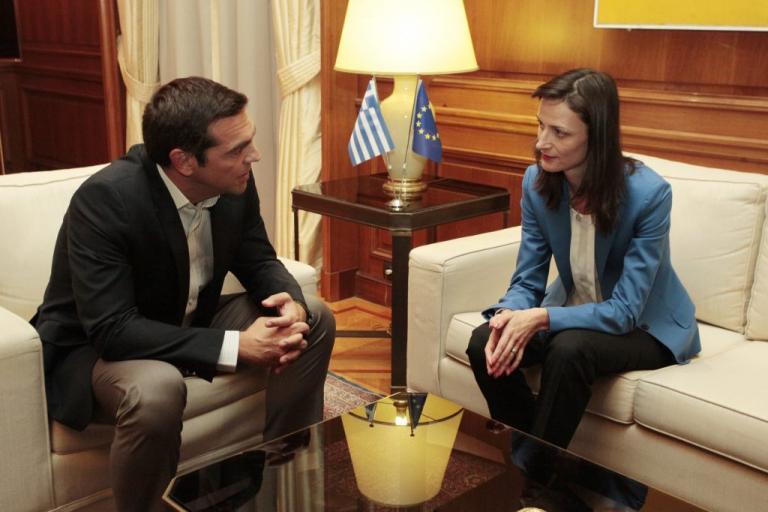 Συνάντηση Τσίπρα με την Ευρωπαία Επίτροπο Ψηφιακής Οικονομίας και Κοινωνίας, Μαρίγια Γκαμπριέλ | Newsit.gr