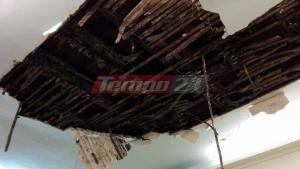 Πάτρα: Έπεσε το ταβάνι στο δημοτικό ωδείο – Σε λίγη ώρα θα έμπαιναν στην αίθουσα παιδιά [pics]