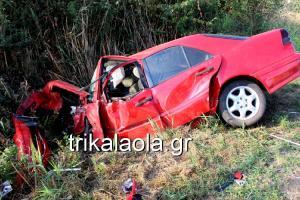 40χρονος επιχειρηματίας νεκρός και τέσσερις τραυματίες σε τροχαίο στα Τρίκαλα! [vid]