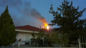 Καλαμπάκα: Απειλεί σπίτια η φωτιά στην Βασιλική [pics]