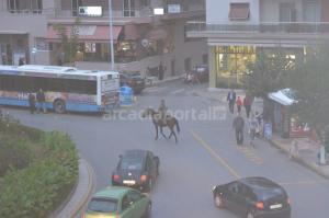 Ανέβηκε στο άλογο και έκανε βόλτες στο κέντρο της Τρίπολης [pics]