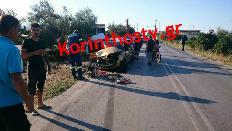 Σφοδρή σύγκρουση αυτοκινήτων στην Κορίνθου – Πατρών | Newsit.gr