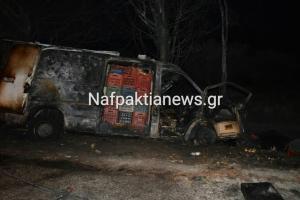 Αντίρριο: Απανθρακώθηκε οδηγός σε τροχαίο δυστύχημα – Σκληρές εικόνες στο σημείο της ασύλληπτης τραγωδίας [pics, vids]