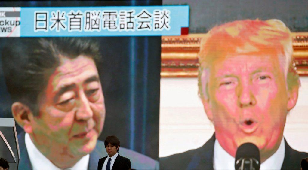 Αμπε και Τραμπ συζήτησαν για τη Βόρεια Κορέα