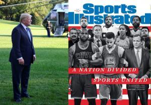 Συγκλονιστικό εξώφυλλο από το Sports Illustrated: Ο Τραμπ που διχάζει, τους ενώνει