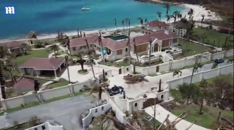 Ρημαδιό το «παλάτι» του Τραμπ από τον κυκλώνα Ίρμα [vid] | Newsit.gr
