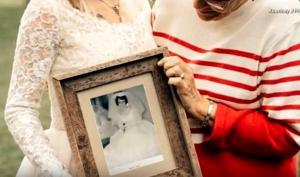Νύφη έκανε έκπληξη στη γιαγιά της και φόρεσε το νυφικό της