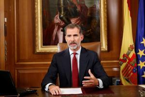 """Βασιλιάς Φελίπε της Ισπανίας: """"Παράνομο το δημοψήφισμα στην Καταλονία"""""""