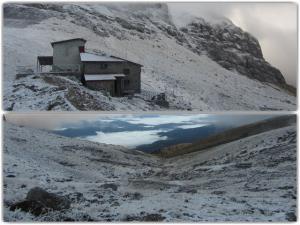 Ήπειρος: Ο «Δαίδαλος» έφερε τα πρώτα χιόνια – Στα λευκά το καταφύγιο της Αστράκας [pics]