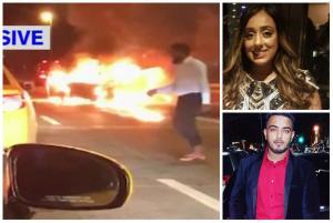 Ανατριχιαστικό! Τράκαρε, την άφησε να καεί ζωντανή και έφυγε με ταξί [vid]