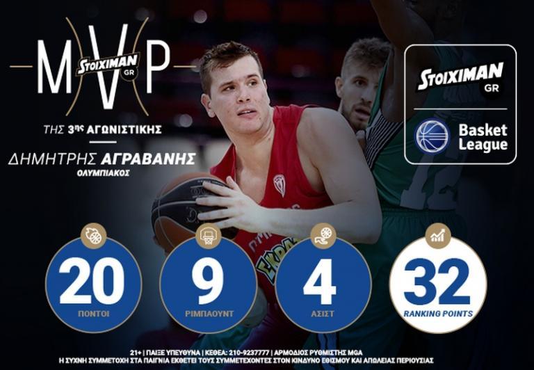 Ο Δημήτρης Αγραβάνης STOIXIMAN.GR MVP της 2ης αγωνιστικής   Newsit.gr
