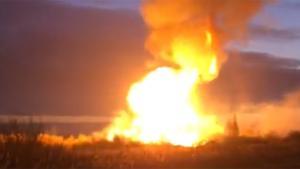 Έκρηξη φυσικού αερίου – Κόλαση φωτιάς στη Μόσχα [vids]