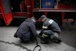 Φωτιά σε βυτιοφόρο στην Εθνική Οδό