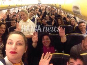 Χανιά: Τέλος εποχής για τη Ryanair – Η τελευταία πτήση και η selfie [pics]