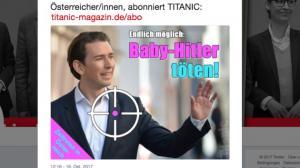 """""""Επιτέλους εφικτό να σκοτώσουμε το μωρό Χίτλερ"""" λέει σατιρικό περιοδικό για τον Κουρτς!"""