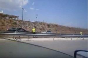 Οδηγούσε ανάποδα στην Εθνική Οδό Αθηνών – Λαμίας! [vid]