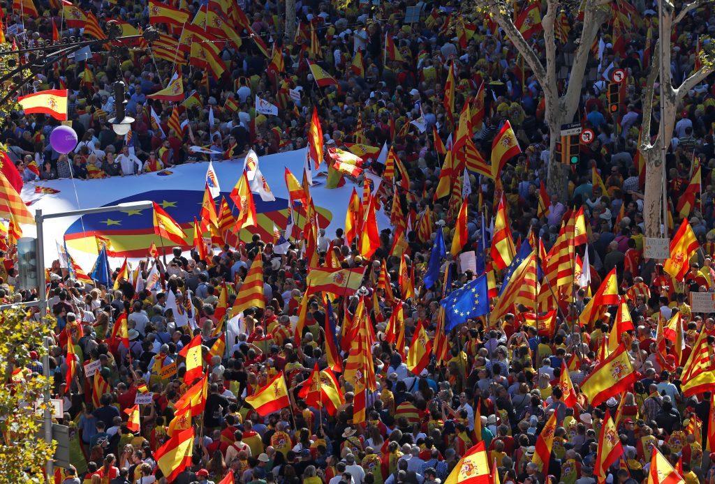 Καταλονία Βαρκελώνη διαδήλωση Πουτζδεμόν