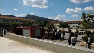 Πανικός σε σχολείο στα Χανιά – Ξέσπασε φωτιά εν ώρα μαθήματος [pics]