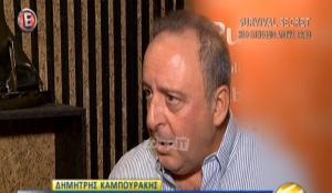 Δημήτρης Καμπουράκης: «Δεν πιστεύω ότι θα ανοίξει το MEGA»