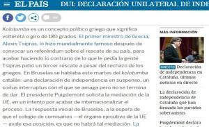 Καταλονία: Η El Pais μιλά για… kolotumba και εμπλέκει Τσίπρα!