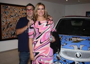 Άννα Δρούζα: Στηρίζει τον σύντροφό της, Θανάση Λάλα, στο νέο του καλλιτεχνικό βήμα! [pics]