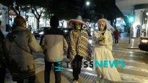 Η «νεκρή νύφη» κάνει βόλτες στη Θεσσαλονίκη [vid]