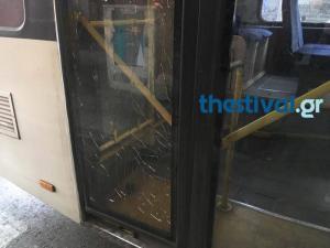 Θεσσαλονίκη: Πέταξαν πέτρες σε λεωφορείου του ΟΑΣΘ [pics]