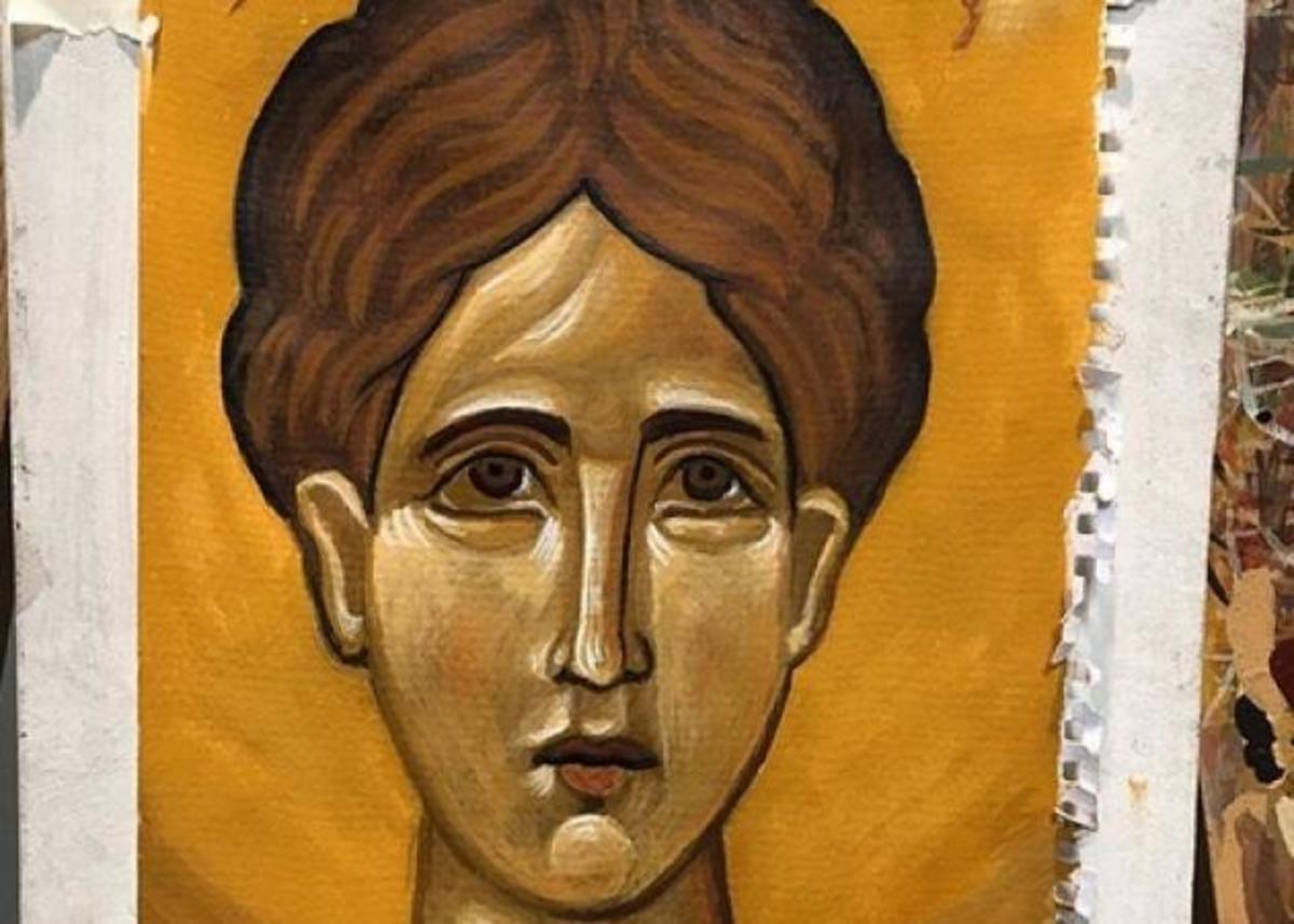 Διάσημη Ελληνίδα ηθοποιός ζωγράφισε την πρώτη της βυζαντινή εικόνα! | Newsit.gr