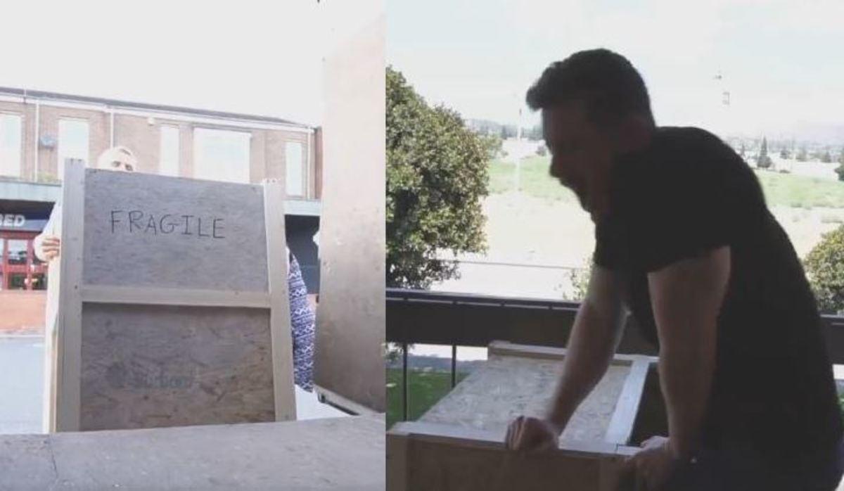 Έστειλε τον εαυτό του πακέτο από την Αγγλία στην Αμερική!