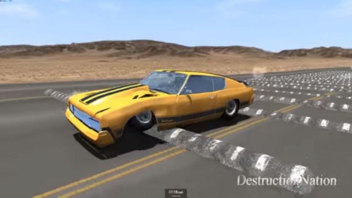 Δείτε τι παθαίνει ένα αυτοκίνητο αν πέσει σε 100 διαδοχικά σαμαράκια! [vids]   Newsit.gr