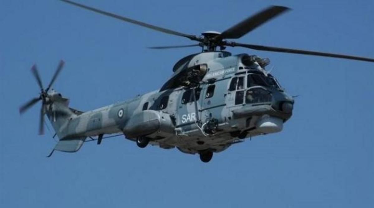 Διάσωση 8 Ρώσων από Super Puma της Πολεμικής Αεροπορίας   Newsit.gr
