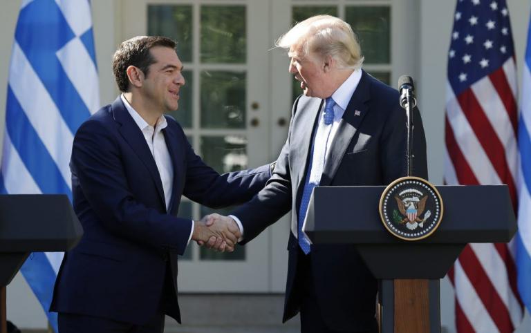 Αποτέλεσμα εικόνας για Τσίπρας Τραμπ Οκτώβριος 2017